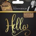 Sara Davies Signature Black & Gold 2.5\u0027\u0027x2.1\u0027\u0027 Metal Die-Hello