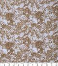 Keepsake Calico Glitter Cotton Fabric 43\u0027\u0027-Tan Snake Skin Crackle