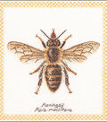 Honey Bee On Aida Counted Cross Stitch Kit 16 Count