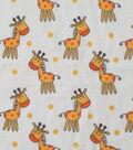 Soft & Comfy Fleece Fabric 57\u0022-Baby Giraffe