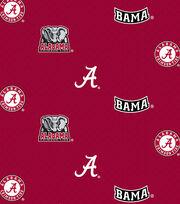 "University of Alabama Crimson Tide Cotton Fabric 43""-Allover, , hi-res"