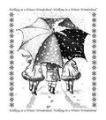 Crafty Individuals Unmounted Rubber Stamp Winter Wonderland