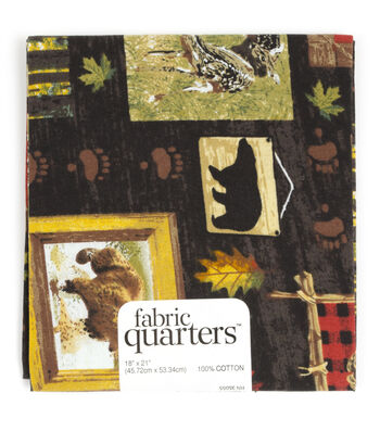 """Fabric Quarters Cotton Fabric 18""""-Assorted Wilderness Patterns"""