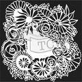 The Crafter\u0027s Workshop Marlene 6\u0027\u0027x6\u0027\u0027 Stencil-Floral Statement