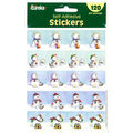 Eureka Snowmen Theme Stickers, 120 Per Pack, 12 Packs