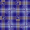 Kansas City Royals Fleece Fabric -Plaid