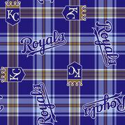 Kansas City Royals Fleece Fabric -Plaid, , hi-res
