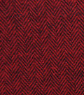 Plaiditudes Brushed Cotton Apparel Fabric -Red & Black Herringbone