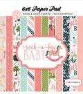 Carta Bella Double-Sided Paper Pad 6\u0022X6\u0022-Rock-A-Bye Baby Girl