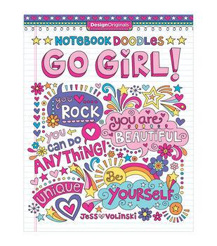 Design Originals Notebook Doodles Go Girl Coloring Book