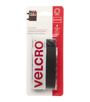 VELCRO Brand Sticky-Back Tape 4pcs 0.75''x3.5''