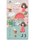 Santoro Kori Kumi II A6 Character Stamps-Melon Shower