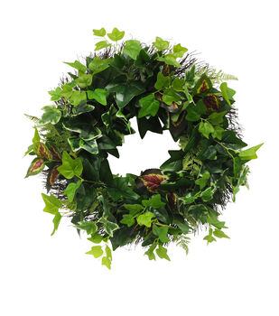 Fresh Picked Spring 24'' Mixed Greenery & Vine Wreath