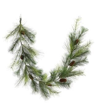 Handmade Holiday Christmas 66'' Long Pine & Pinecone Garland