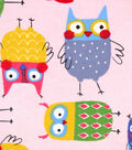 Snuggle Flannel Fabric 42\u0027\u0027-Shock & Aww Owls