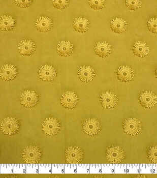 Specialty Cotton 3D Circle Embroidered Fabric-Mimosa