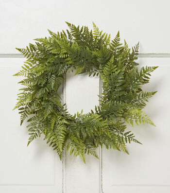 Bloom Room Fern Wreath-Green