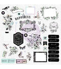 Flirty Fleur Ephemera Cardstock Die-Cuts 38/Pkg-Shapes, Tags, Words