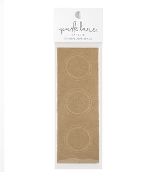 Park Lane 30 pk Embossed Envelope Seals-Kraft