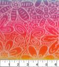 Anti-Pill Fleece Fabric 59\u0022-Floral Rainbow Tiedye
