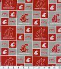 Washington State University Cougars Cotton Fabric 43\u0022-Block