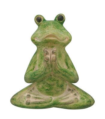Hello Spring Gardening Resin Meditating Yoga Frog-Green