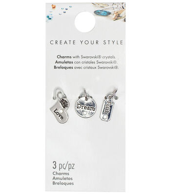 Swarovski Create Your Style Love, Dream & Faith Charms