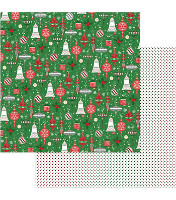 "Here Comes Santa Double-Sided Cardstock 12""X12""-Trimmings"