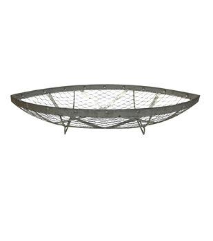 Indigo Mist Metal Boat Basket