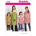 Simplicity Pattern 1707A Misses\u0027 & Girls Aprons-Size S-L