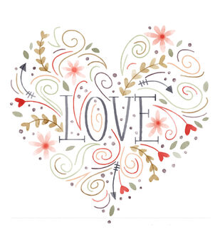Cricut Large Heart Iron-On Design-Love