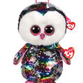 Ty Inc. Fashion Reversible Sequin Owen Owl Backpack