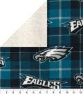 Philadelphia Eagles Fleece Fabric-Plaid Sherpa