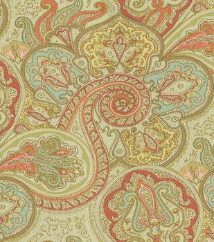 "Waverly Sun N' Shade Outdoor Fabric 54""-Paddock Shawl Persimmon"