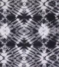 Blizzard Fleece Fabric 59\u0022-Black Tie Dye