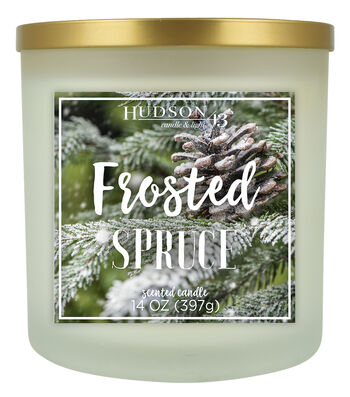 Hudson 43 Candle & Light 14 oz. Frosted Spruce Jar Candle