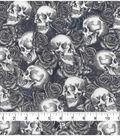 Halloween Cotton Fabric 43\u0022-Skulls N Roses
