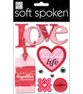Me & My Big Ideas Soft Spoken Embellishments-Love