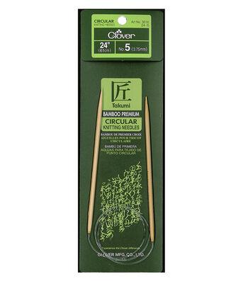"Takumi Bamboo Circular Knitting Needles 24""-Size 5/3.75mm"