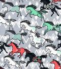 Snuggle Flannel Fabric -Breeze Horses
