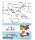 Little Makers 6X8 Canvas Kit-Dinosaurs
