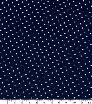 Keepsake Calico Cotton Fabric-Navy Small X Geo