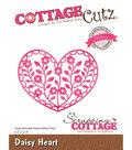 CottageCutz Elites Die-Daisy Heart 3.5\u0022X2.5\u0022