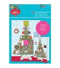 Papermania Folk Christmas A5 Decoupage Card Kit-Advent Framed