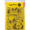 Waffle Flower Crafts Clear Stamp 5\u0022X7\u0022-Therefore I Am