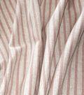 Waverly Designer Upholstery Fabric 54\u0022-Harlow Stripe Blush