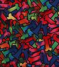 Novelty Cotton Fabric 43\u0027\u0027-Tie Dye Packed Bones
