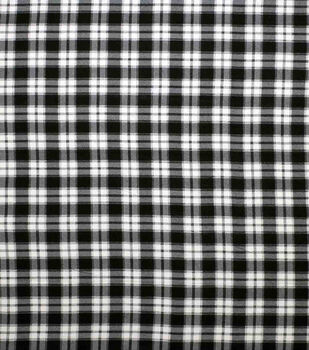 Super Snuggle Flannel Fabric-Melanie Black Plaid