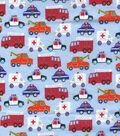 Snuggle Flannel Fabric 43\u0022-Emergency Trucks