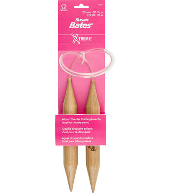 """Susan Bates X-Treme Wood Circular Knitting Needles 36""""-Size 50/25mm"""